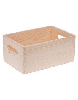Skrzynia drewniana sosnowa 30x20cm bez wieka