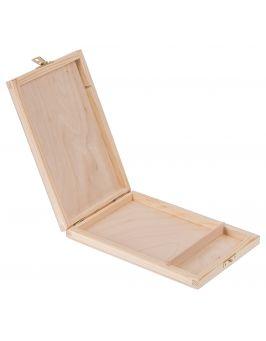 Drewniane pudełko na płyty CD i pendrive z zapięciem