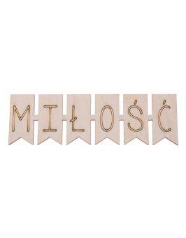 Drewniany napis tabliczka MIŁOŚĆ