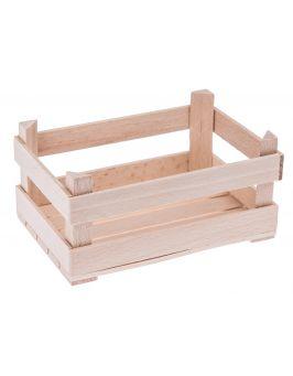Drewniana mini skrzyneczka 12,5x8,5 cm