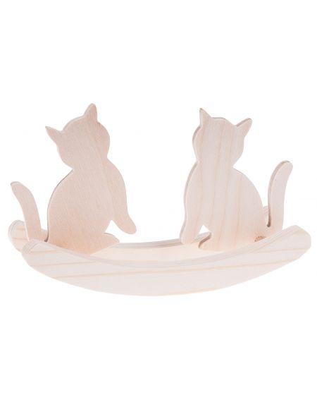 Drewniane kotki na biegunach małe