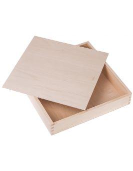Drewniane pudełko na fotoksiążkę 33x33 cm
