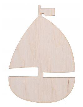 Drewniana żaglówka łódka