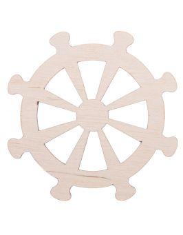 Drewniane koło marynarskie, sterowe